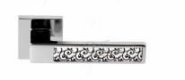 """Ручка дверная на квадратной розетке Venezia Unique """"Biblo ceramica"""" полированный хром"""