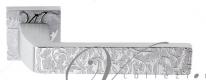"""Ручка дверная на квадратной розетке Venezia Unique """"Geneve decor"""" Хром матовый"""