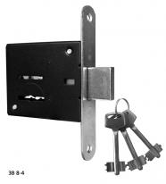 Замок сувальдный ЗВ8-4 (3 ключа)
