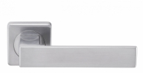 Ручка дверная на квадратной розетке Archie Esta Line S040 13099 (Хром матовый )