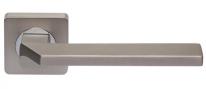 Ручка дверная на квадратной розетке Rossi City LD 201-F21 MSM Платина