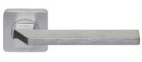 Ручка дверная на квадратной розетке Rossi City LD 201-F21 CS Хром матовый