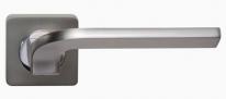 Ручка дверная на квадратной розетке Rossi Enjoy LD 222-F21 MSM Платина