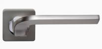 Ручка дверная на квадратной розетке Rossi Enjoy LD 222-F21 CS Хром матовый