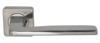 Ручка дверная на квадратной розетке Rossi Mirra LD 263-F21 SN Никель матовый/никель