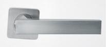 Ручка дверная на квадратной розетке Rossi Inca LD 199-F21 SN Никель матовый/никель