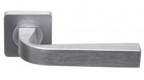 Ручка дверная на квадратной розетке Rossi Zante LD 200-F21 SN Никель матовый/никель