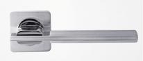 Ручка дверная на квадратной розетке Rossi Tesa LD 176-F21 SN Никель матовый/никель