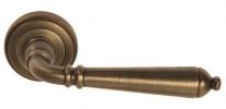 Ручка дверная на круглой розетке Rossi Lyon LD 072 CF Бронза матовая