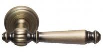 Ручка дверная на круглой розетке Rossi Petra LD 568 CF Бронза матовая