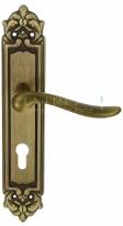 "Ручка дверная на планке под цилиндр Extreza ""TOLEDO"" (Толедо) 323 PL02 CYL матовая бронза F03"