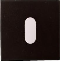 Накладка на ключ буратино Linea Cali 024 PAT VE черный матовый 1 шт.