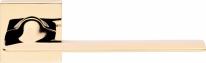 Ручка дверная на квадратной розетке Linea Cali JET 1425 RO 019 OZ полированное золото