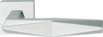 Ручка дверная на квадратной розетке Linea Cali PRISMA 1280 RO 019 CS Хром матовый