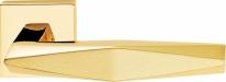 Ручка дверная на квадратной розетке Linea Cali PRISMA 1280 RO 019 OM Золото 24K/Матовое золото