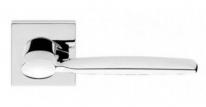Ручка дверная на квадратной розетке Linea Cali SPRING 480 RO 024 CR полированный хром