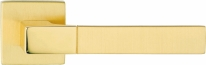Ручка дверная на квадратной розетке Linea Cali THAIS 1155 RO 019 ОТ матовая латунь/полированная латунь