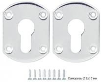 Декоративная Punto (Пунто) накладка ESC031-SS (нержавейка) на цилиндр (1 пара)