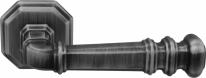 Ручка дверная на квадратной розетке Forme Rat Atlas159 Затемненное серебро