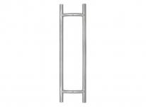 Комплект дверных ручек-скоб Doorlock DL PHS 14 38-800-600