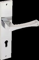 Ручка дверная на планке пустышка Forme Themis 217/P06 PASS Полированный Хром