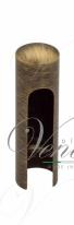 Колпачок для ввертных петель Venezia CP14 U без пешки D14 мм матовая бронза