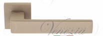 """Ручка дверная на квадратной розетке Fratelli Cattini """"BOOM"""" 8-MT тортора"""