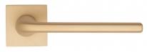 """Ручка дверная на квадратной розетке Fratelli Cattini """"LINEA"""" 8-KD золото крайола"""