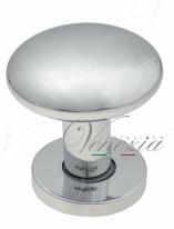 Ручка дверная кноб поворотная Fratelli Cattini BRESCIA P34 Ø62 CR полированный хром 1шт.