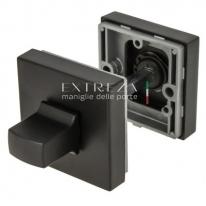 Фиксатор поворотный квадратный Extreza Hi-tech WC-11 черный матовый F22