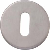 Накладка круглая под ключ буратино Extreza Hi-tech KEY-12 матовый хром F05