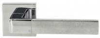 Ручка дверная на квадратной розетке Extreza Hi-tech FIORE 110 R11 полированный хром / матовый хром F04/F05