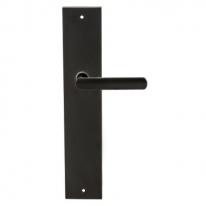 Ручка дверная на планке пустышка Extreza Hi-tech AQUA 113 PL11 PASS черный матовый F22