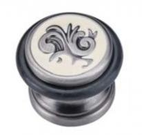 Ограничитель дверной напольный Archie G017 BL.SILVER Черненное Серебро