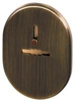 Декоративная Fuaro (Фуаро) накладка ESC 476 AB БРОНЗА на сувальдный замок с шторкой