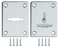 Декоративная Fuaro (Фуаро) накладка ESC081/082-CP-8 (ХРОМ) на сув. замок сталь (1пара)