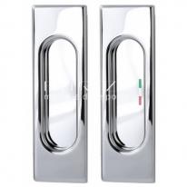 Ручка для раздвижной двери Extreza Hi-tech P401 Полированный хром F04 (2шт)
