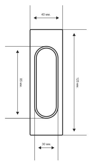 Ручка дверная купе Extreza Hi-tech P401  черный (пара) F22