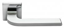 Ручка дверная на квадратной розетке Morelli Luxury, Sputnik Cro Хром