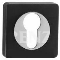 Накладка квадр. на цилиндр РЕНЦ, чёрный/хром
