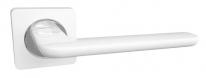 Ручка дверная на квадратной розетке RENZ Лана, Матовый белый/Хром блестящий