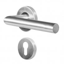 Ручка дверная противопожарная Doorlock DL 040/F-55 PZ L-form Rt с накладками