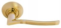 Ручка дверная на круглой розетке Morelli DIY MH-04 SG ФОНТАН матовое золото/золото