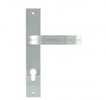 Ручка дверная на планке под цилиндр Нора-М 106-85 мм (Хром)