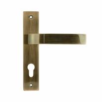 Ручка дверная на планке под цилиндр Нора-М 107-70 мм (Бронза)
