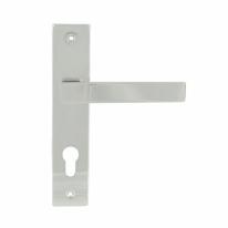 Ручка дверная на планке под цилиндр Нора-М 109-70 мм (Хром)