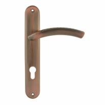 Ручка дверная на планке под цилиндр Нора-М 96-85 мм (Медь)