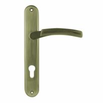 Ручка дверная на планке под цилиндр Нора-М 99-85 мм (Бронза)