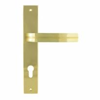 Ручка дверная на планке под цилиндр Нора-М 106-85 мм (Золото)