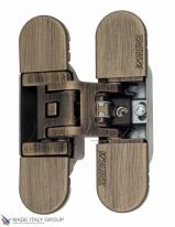 Петля дверная скрытая Koblenz Kubica 6700 DXSX, BS  Состаренная Бронза  (70 кг)